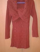 Sukienka długi sweter S 36 z wełną...
