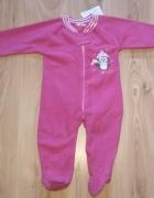 Nowy różowy polarowy kombinezon piżamka dziewczęca...