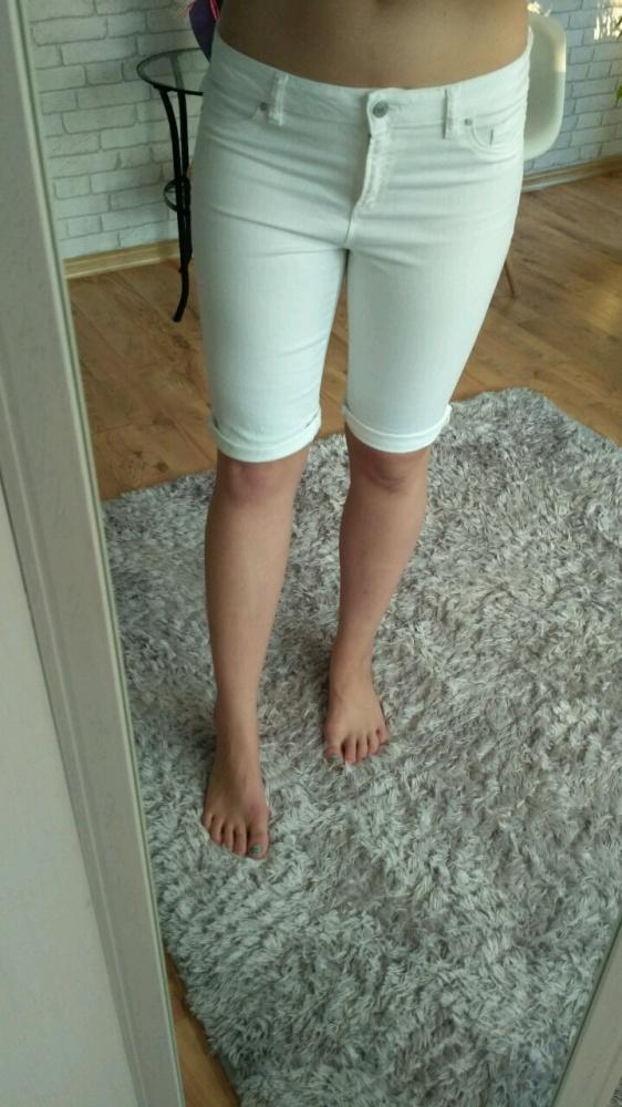 Spodenki Białe spodenki do kolan