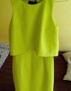 sukienka mohito 36 limonka limonkowa wesele zielon