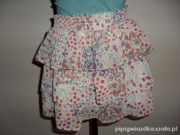 Spódnice spódniczka falbanki floral