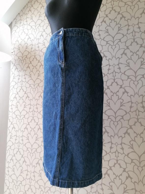 Spódnice Jeansowa spódnica midi regulacja rozcięcie vintage retro Papercorn XS S