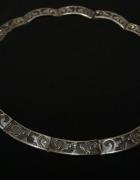 Indiański srebrny naszyjnik