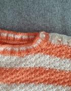 Pomarańczowy sweterek w paski