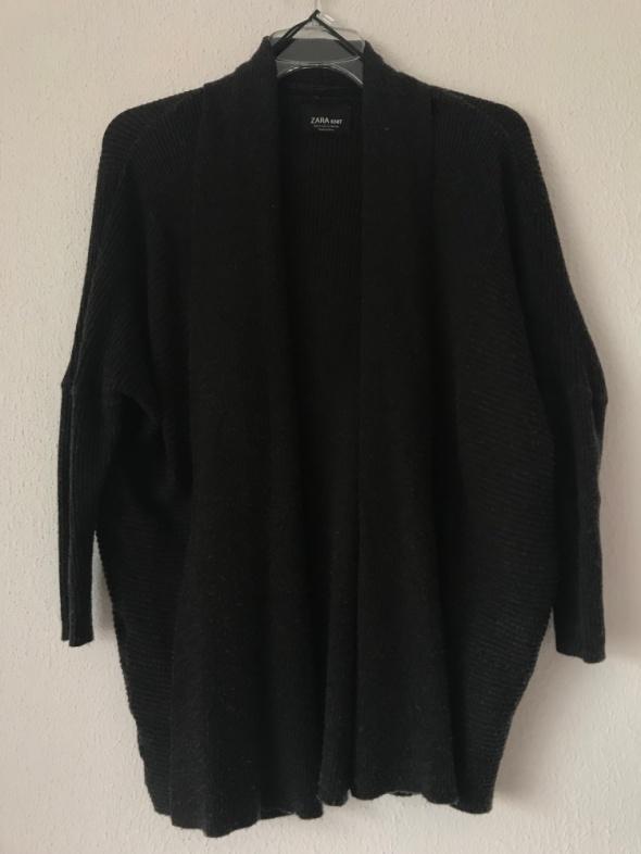 kardigan sweter Zara Basic S 36 grafit...