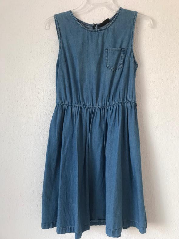 jeansowa sukienka Next 36 S midi...