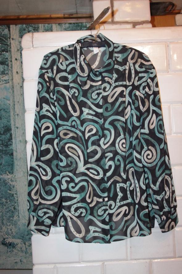 Koszula we wzory Plus Size Rozmiar 56