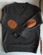 Męski szary wełniany sweter...
