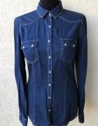 koszula jeansowa granatowa stradivarius nowa s...