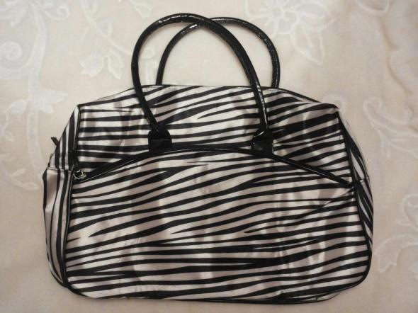 Torebki na co dzień Duża torba Avon zebra xxl
