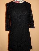 Nowa czarna koronkowa sukienka h&m 34 xs...