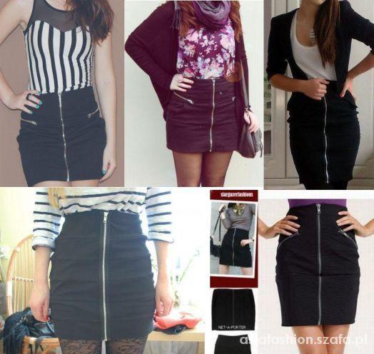 Spódnice nowa spódniczka mini zip zamek xs jak zara