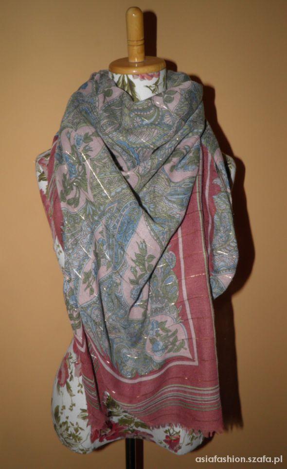 Chusty i apaszki duża chusta szal apaszka