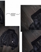 New Look zgrabna i ciepła w kratę bufki zip super...