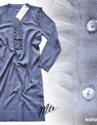 b Young Nowy firmowy dluższy sweter niebieski...
