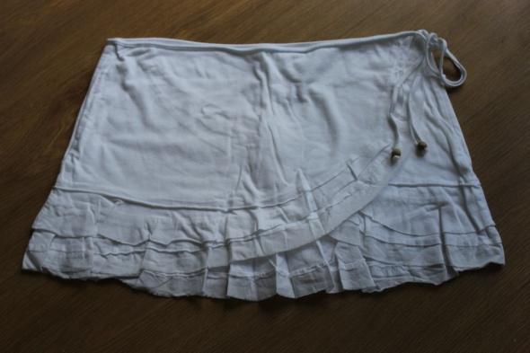 Spódnice spódnica mini krótka spódniczka biała kopertowa