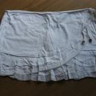 spódnica mini krótka spódniczka biała kopertowa