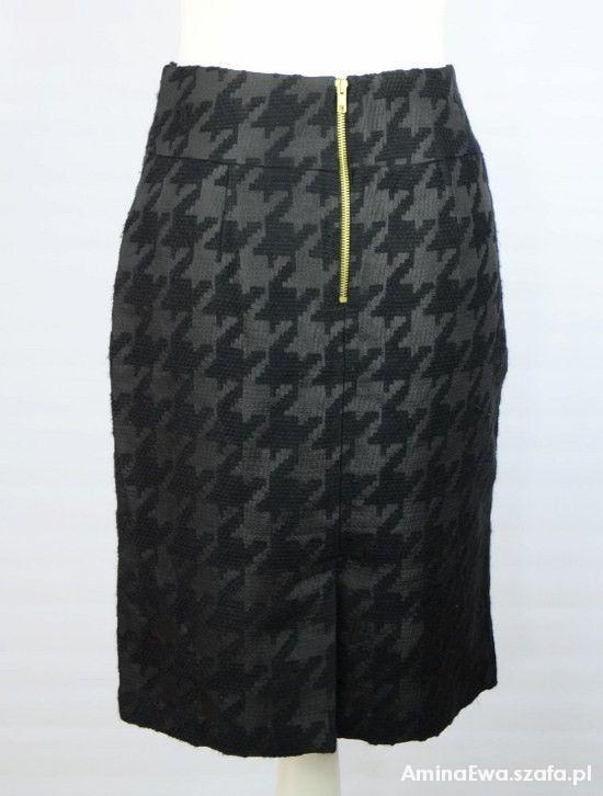 modna spódniczka w dużą pepitkę