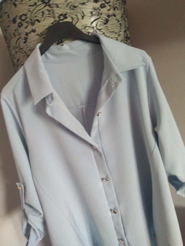 Błękitna koszula long