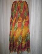 Maxi spódnica mgiełka powiewna letnia rozmiar L...