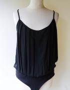 Body Czarne Plisowane Vero Moda XL 42 Bluzka...