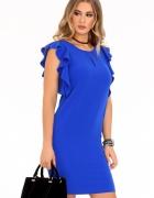 Sukienka falbankowy rękaw S M L XL XXL 42 44 Kolory...