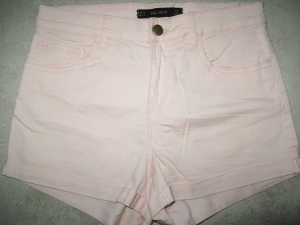 Spodenki ZARA różowe szorty damskie roz 38