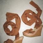 DUNE espadryle beżowe koturny damskie roz 38