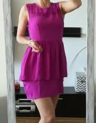 H&M sukienka baskinka fuksja L...