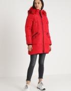 River Island czerwony zimowy płaszcz XL XXL...