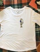 T shirt koszulka biała z rysunkiem...