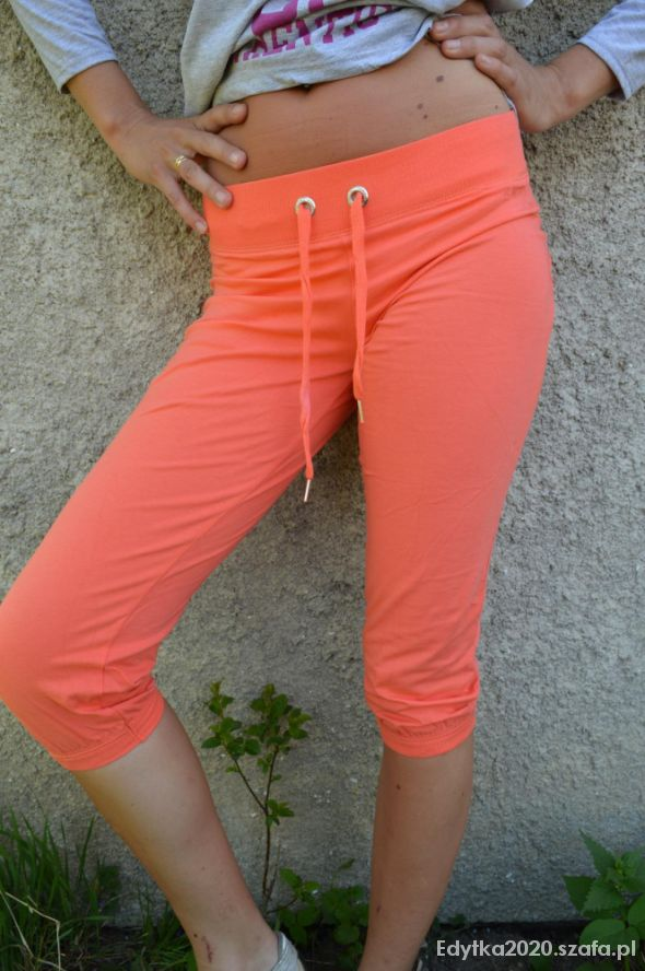 Spodenki Spodnie rybaczki AMISU neon rozmiar S