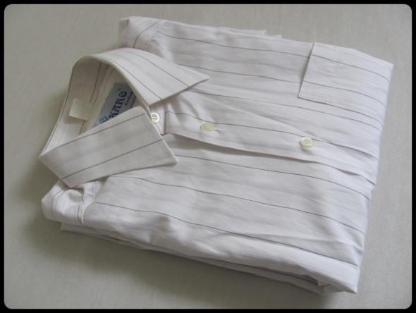 Koszula męska KARO rozmiar 39 176 182 biała w paseczki w  PySdD