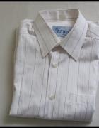 Koszula męska KARO rozmiar 39 176 182 biała w paseczki...