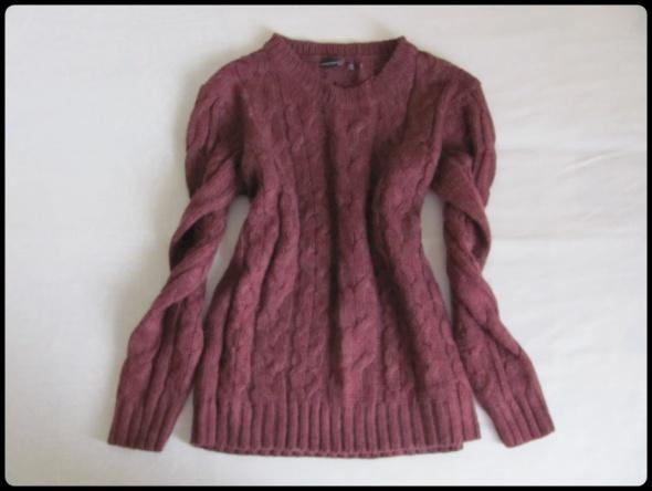 Ciepły fioletowy sweter Atmosphere rozmiar 40 L...
