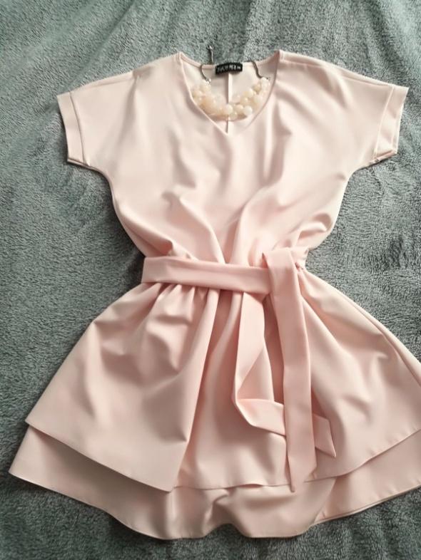 Elegancka sukienka wesele chrzciny komunia 36 38