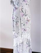 Suknia długa kwiaty Hope & Ivy London wiązana nowa