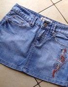 jeansowa mini...