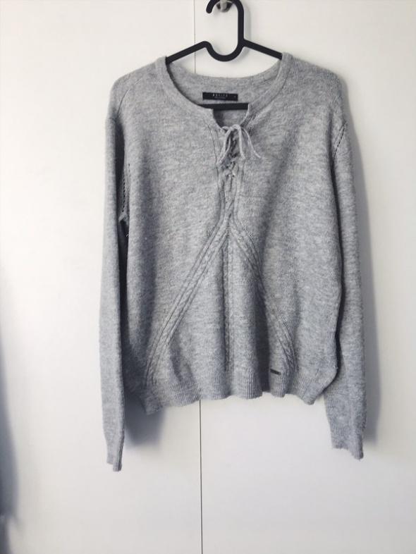 sweterek szary mohito 38 m wiązany mięciutki...