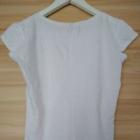 biala koszulka tshirt z nadrukiem sinsay 36