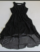 Sukienka asymetryczna z wycięciami na plecach 40 L...