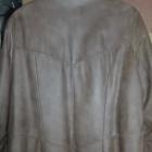Duży damski płaszcz ze skóry
