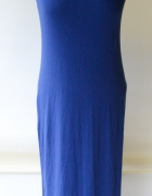 Sukienka Long Długa Maxi Niebieska Cubus S 36...