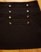 Elegancka spódnica ołówkowa wysoki stan guziki S 36...