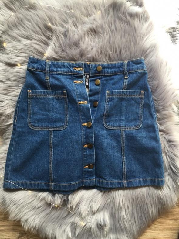 Spódnice jeansowa spódniczka z guzikami h&m
