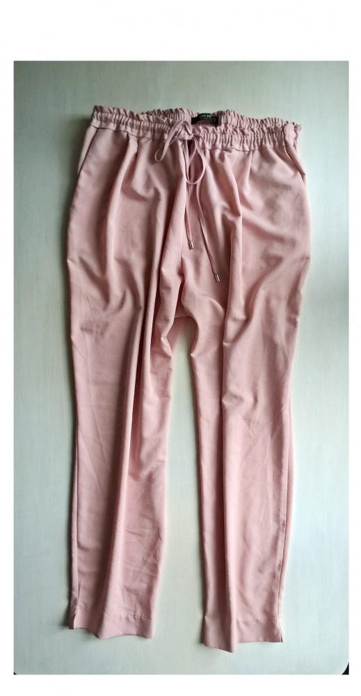Spodnie pudrowy róż Zara Basic XL XXL...