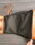 Czarny mały skórzany plecaczek unikat