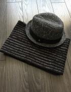 New Yorker genialny komplet kapelusz plus komin...