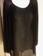 bluzka czarna szyfonowa