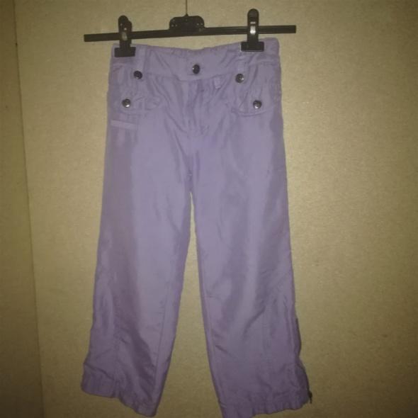Fioletowe sportowe dziewczęce spodnie 116 cm 5 6 lat...